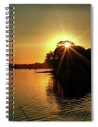 Light Break Through At Sundown Spiral Notebook