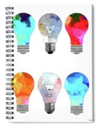 Light Bulbs Spiral Notebook