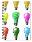 Light Bulbs Of A Different Color Spiral Notebook