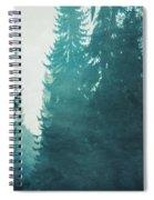 Light Coming Through Fir Trees In Mist Spiral Notebook