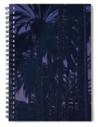 Light Decorated Palm Trees On Paseo Maritimo Spiral Notebook