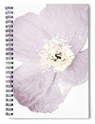 Light Dusty Lavender Poppy Spiral Notebook