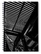 Light Falls Thru Spiral Notebook