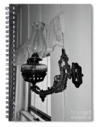 Light From The Past B W Spiral Notebook