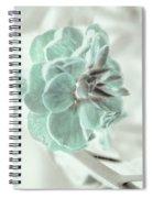 Light Green Blossom Spiral Notebook