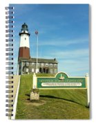 Light House At Montauk Point Spiral Notebook