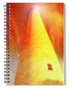 Light House At Sunset, Cape May, Nj Spiral Notebook