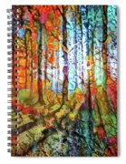 Light In The Woods Spiral Notebook