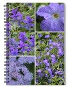 Light Purple Flowers Collage Spiral Notebook