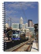 Light Rail In Charlotte Spiral Notebook