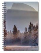 Light Rays In Yosemite Ground Fog Spiral Notebook