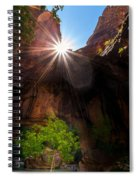Light Shine Down Spiral Notebook