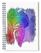 Light The Path Cool Rainbow 3 Dimensional Spiral Notebook
