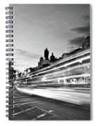 Light Trails On O'connell Street At Night - Dublin Spiral Notebook