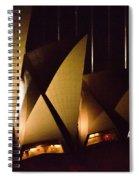 Light Up Sail Of Opera House  Spiral Notebook