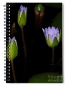 Light Violet Lilies Spiral Notebook