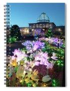 Lighted Flowers Spiral Notebook