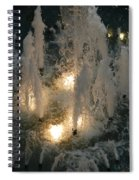 Lighted Fountain Spiral Notebook