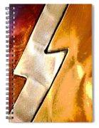 Lightening Bolt Abstract Posterized Spiral Notebook