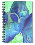 Lighthearted In Blue Spiral Notebook