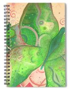 Lighthearted In Green On Red Spiral Notebook