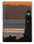 Lighthouse And Power Plant At Dawn Spiral Notebook