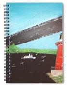 Lighthouse And Bridge Spiral Notebook