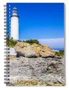 Lighthouse And Rocks Spiral Notebook