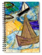 Lighthouse And Sailboats Spiral Notebook