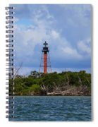 Lighthouse At Anclote Key Spiral Notebook