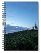 Lighthouse At Blue Hour Spiral Notebook