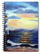 Lighthouse At Sunset Spiral Notebook