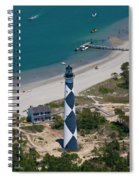 Lighthouse From Above Spiral Notebook