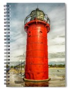 Lighthouse In South Haven Spiral Notebook