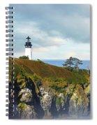 Lighthouse On A Jetty. Spiral Notebook