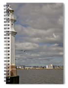Lighthouse On A Sunny Day. Spiral Notebook