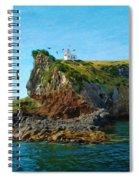 Lighthouse On Cliff Dunedin New Zealand Spiral Notebook