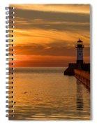 Lighthouse On Glass Spiral Notebook