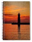 Lighthouse Silhouette  Spiral Notebook