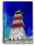 Lighthouse Stained Glass  Spiral Notebook