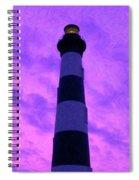 Lighthouse Sunset - Digital Art Spiral Notebook