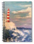 Lighthouse Under Lavender Sky Spiral Notebook