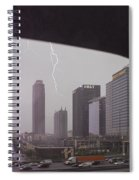 Lighting Up Atlantic Station Spiral Notebook