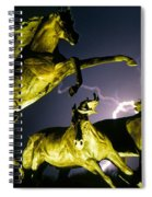 Lightning At Horse World Fine Art Print Spiral Notebook