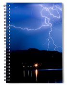 Lightning Blues Spiral Notebook