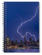 Lightning Bolts Over New York City Spiral Notebook