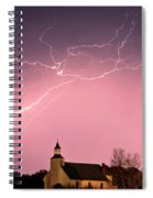 Lightning Bolts Over Spring Valley Country Church Spiral Notebook
