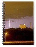 Lightning Bolts Striking In Loveland Colorado Spiral Notebook