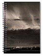 Lightning Cloud Burst Boulder County Colorado Im39 Sepia Spiral Notebook