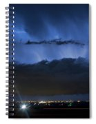 Lightning Cloud Burst Spiral Notebook
